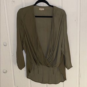 SILENT AND NOISE OLIVE GREEN BLOUSE